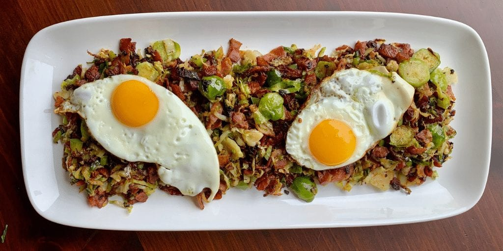 Keto Brussels Sprout and Bacon Hash