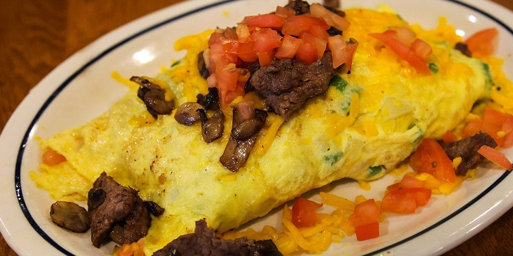 philly cheesesteak omelette
