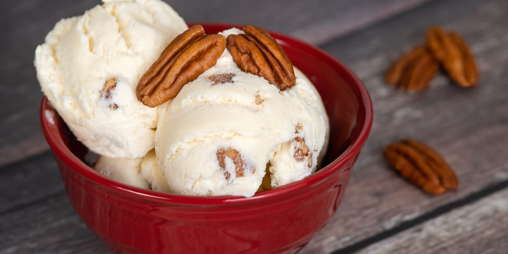 Maple Bourbon Pecan Keto Avocado Ice Cream